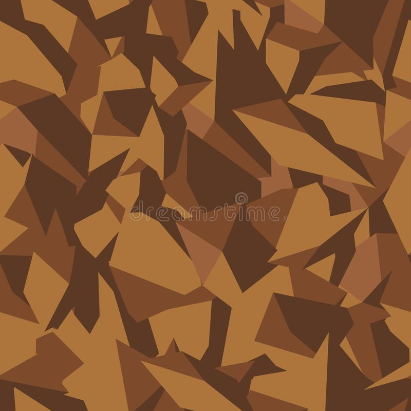 Stone soil texture in brown colors in top view, seamless background. Pattern for the fill of architectural and landscape plans royalty free illustration