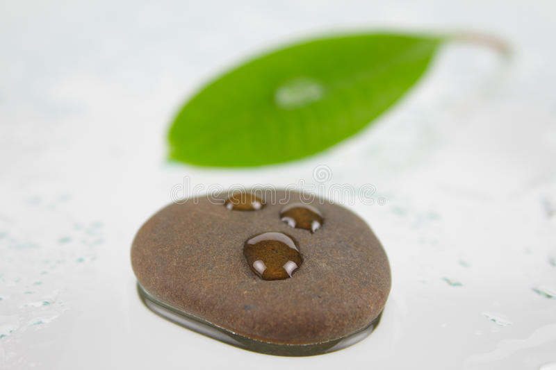 Download Stone For Spa With Three Drops Stock Photo - Image of green, purity: 11707016