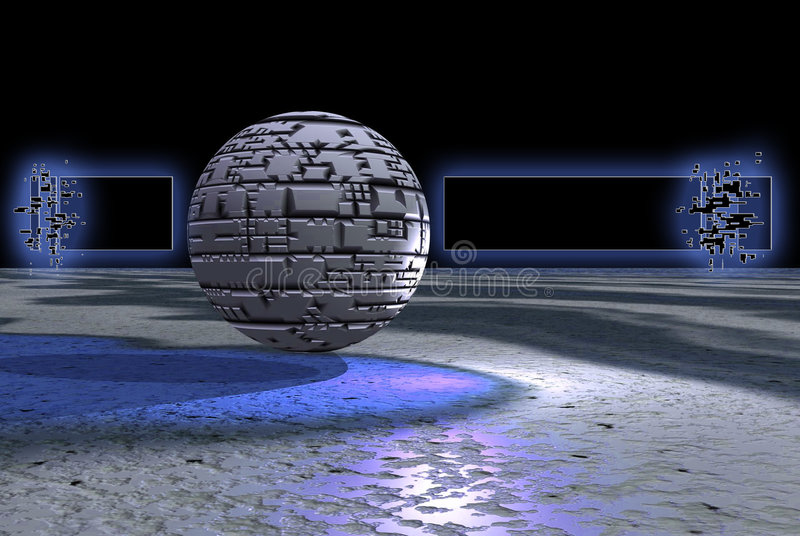 Stone Sphere Banner Stock Images