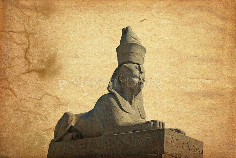 Stone sphinx. On quay in saint petersburg in russia stock illustration