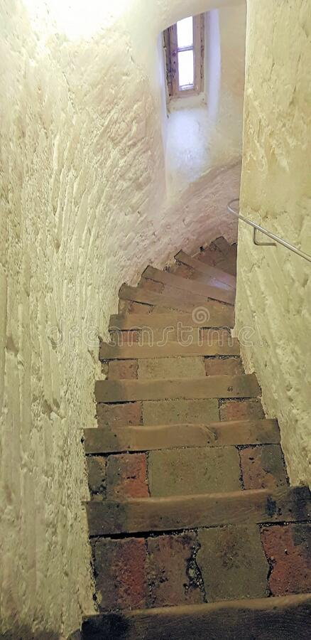 Free Stone Spiral Stairs Going Down A Tower Royalty Free Stock Photos - 190305728