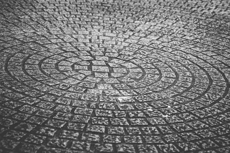 Stone square texture in round shape form.  stock images