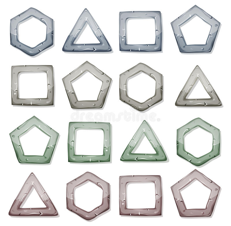 Free Stone Squares, Triangles And Other Shapes Set Stock Images - 42857504