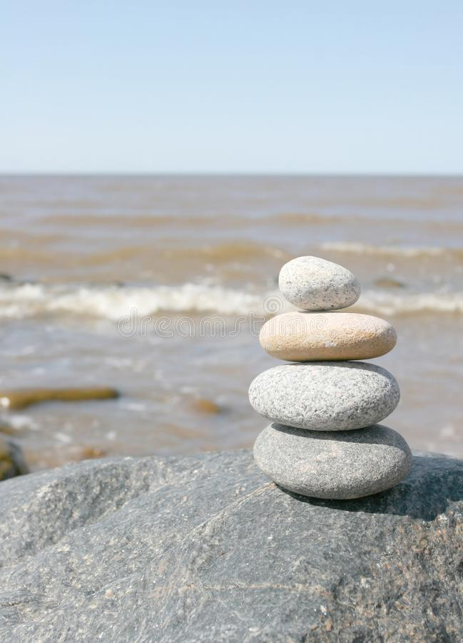 Stone stack royalty free stock photo