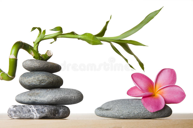 Download Stone Stack With Spiral Bamboo Stock Images - Image: 10935014