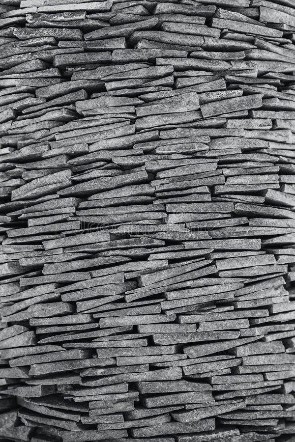 Stone stack wall decoration vertical stock image