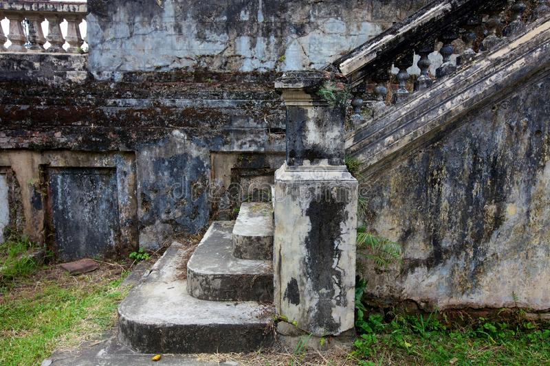 Stone Staircase. Ancient and decayed stone staircase stock images