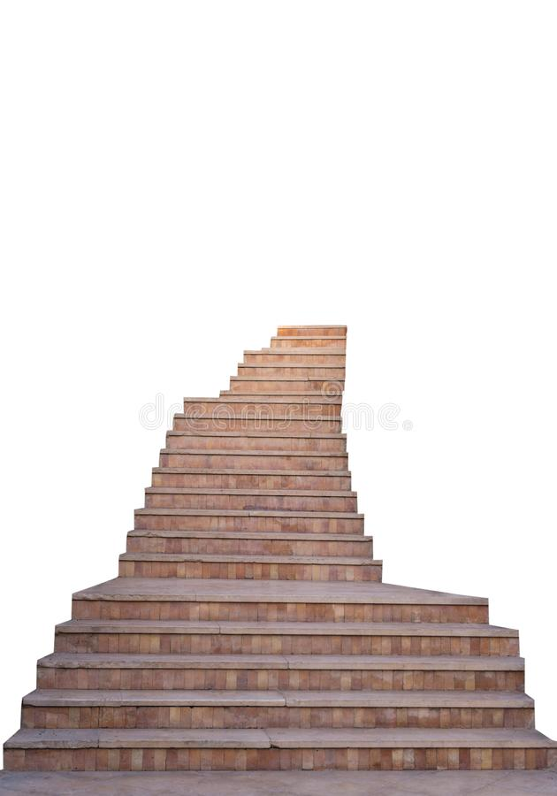 Stone staircase isolated. On white background stock photography