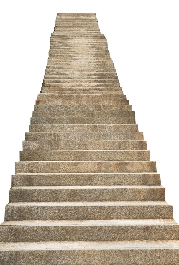 Stone staircase isolated on white background. A  stone staircase isolated on white background royalty free stock photography