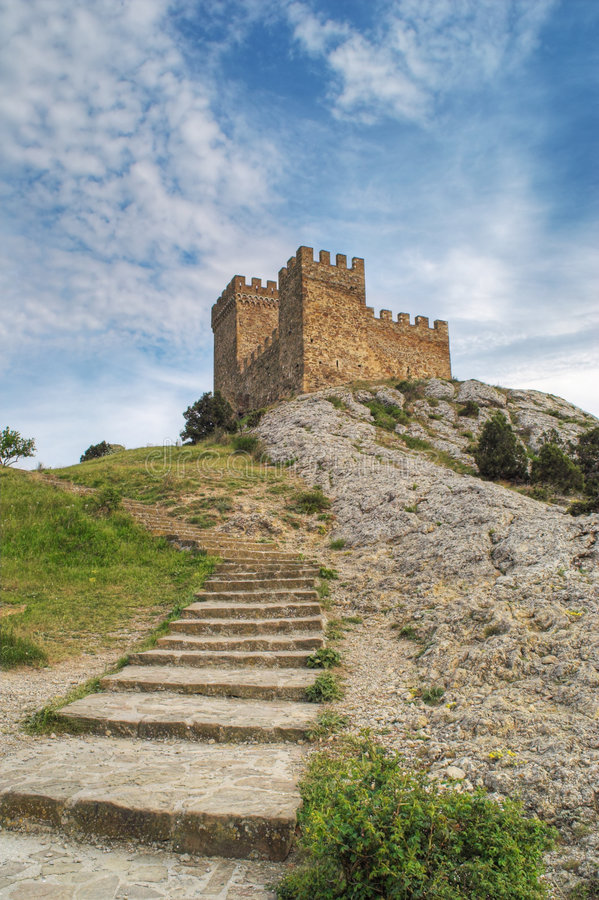 Download Stone Stairs Leading To Tower Stock Photo - Image: 2453650