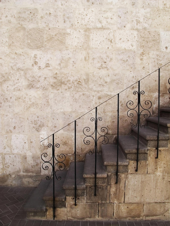 Free Stone Stairs With Metal Railings, Peru. Stock Image - 16795971