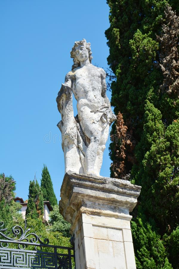 Stone statue in Asolo, Italy stock photo
