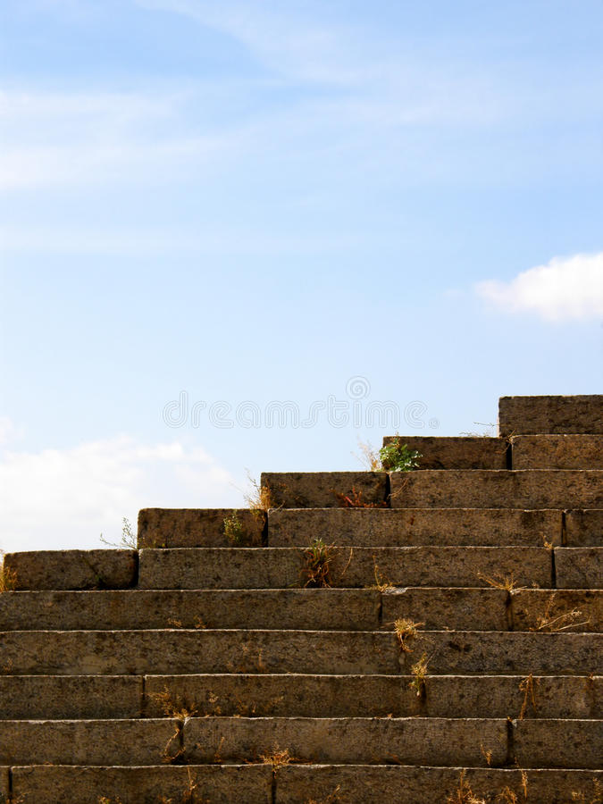 Download Stone steps stock image. Image of blue, risers, concrete - 11038267