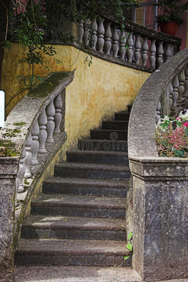 Download Stone steps stock photo. Image of ballustrade, plants, climb - 171778
