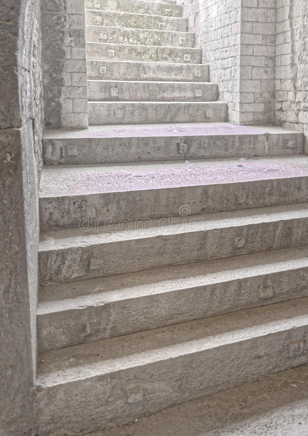 nimes, france: Stone steps stock photography