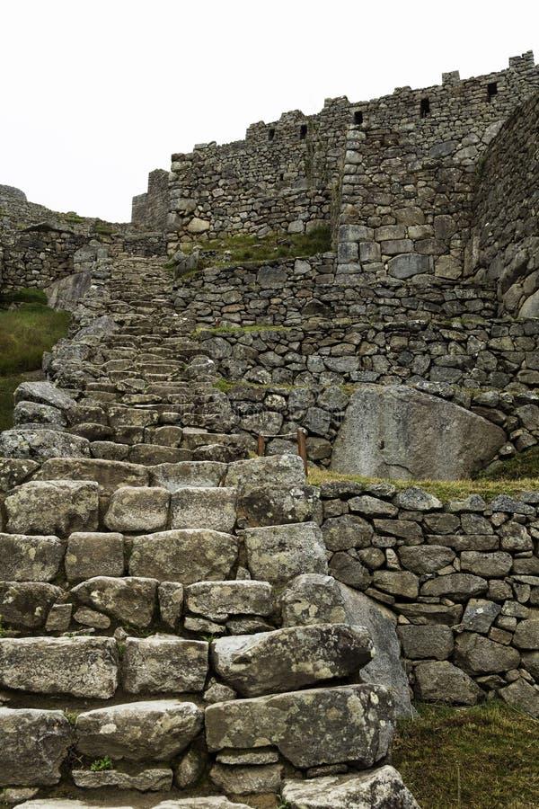 Stone Steps And Walls Machu Picchu Peru. Inca Ruins Stone Steps And Walls Machu Picchu Peru South America stock image