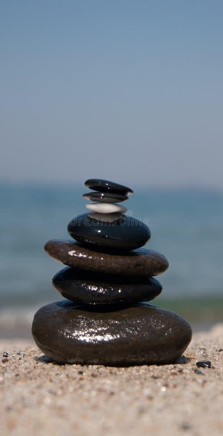 Stone on stone tower - Zen stock image