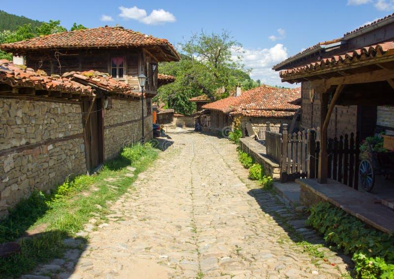 Stone Street in the Balkan village royalty free stock photos