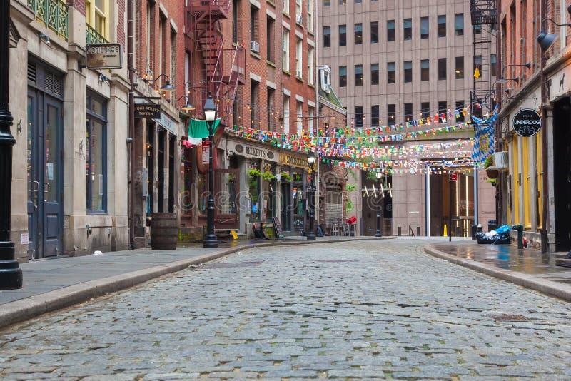 Stone Street New York stock images