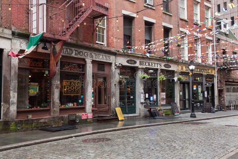Stone Street Restaurants royalty free stock images