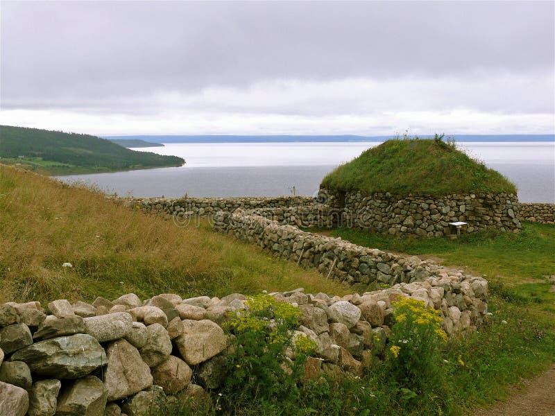 Stone structure in Cape Breton stock photo