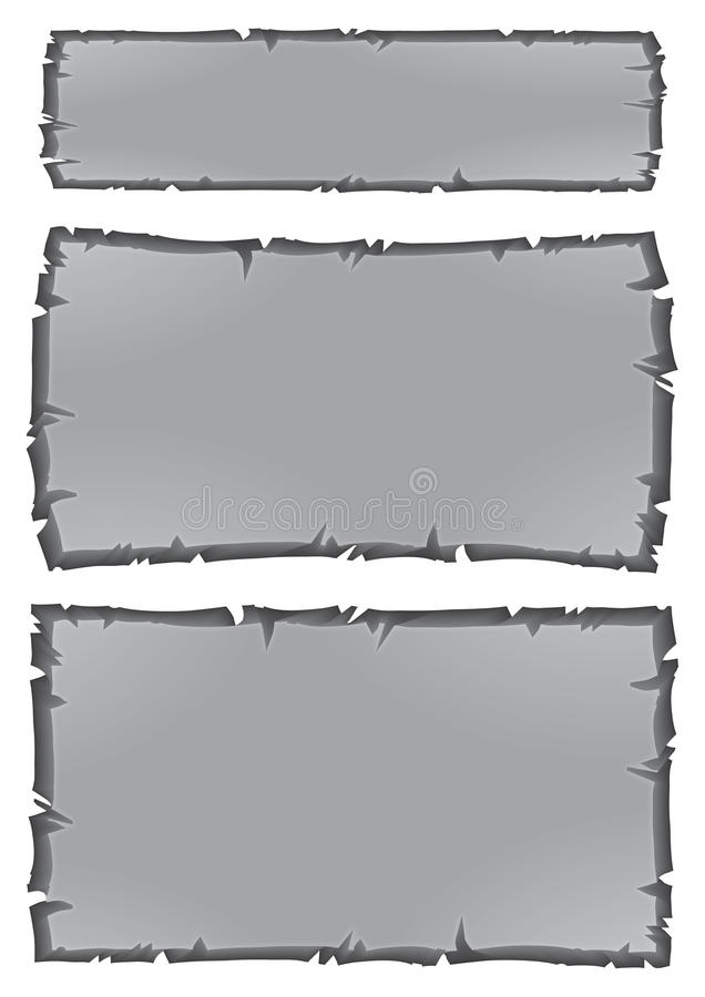 Stone table. The old grey stone burst board stock illustration