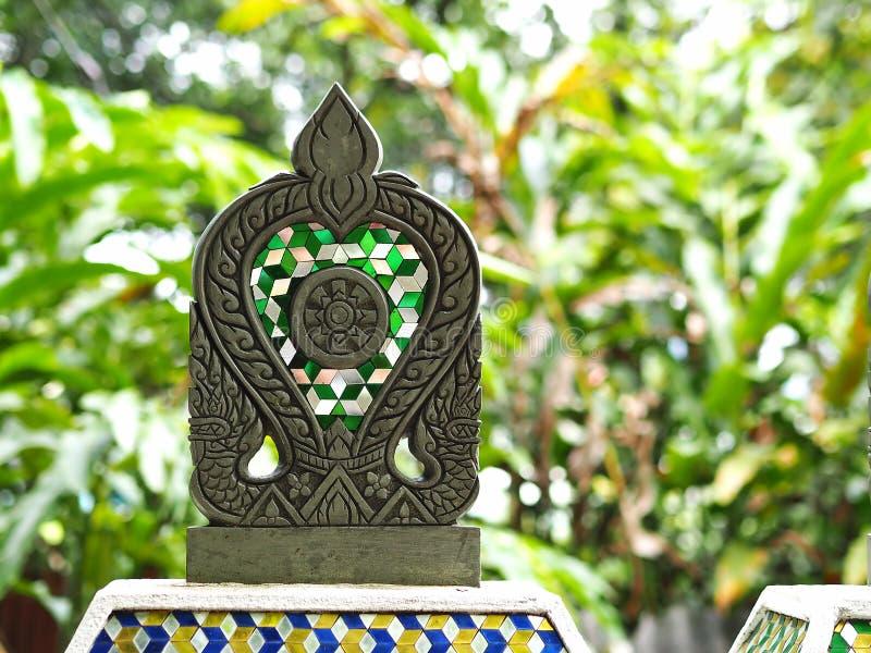 Stone tablet. In Thai art stock photo