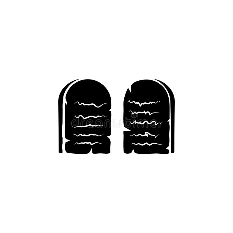 Stone Tablets. Ten Commandments symbol royalty free illustration