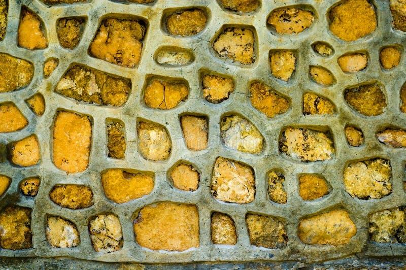stone tekstury ściany żółty zdjęcia stock