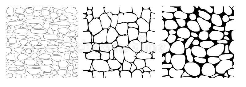stone tekstury bezszwowe royalty ilustracja