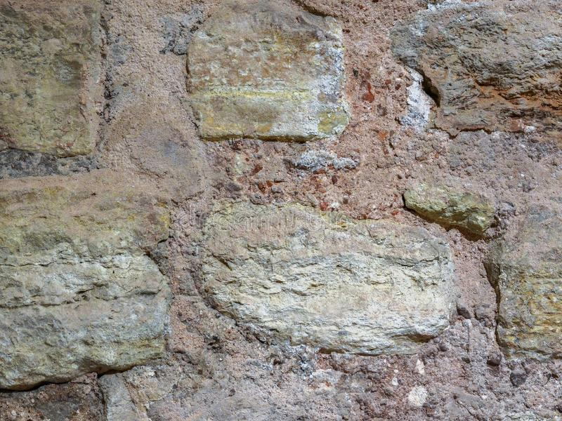 Stone texture, wall surface of an old building stock photos