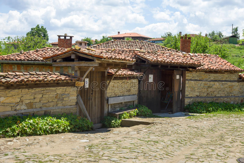 Stone and tile in the Balkan architecture stock photography