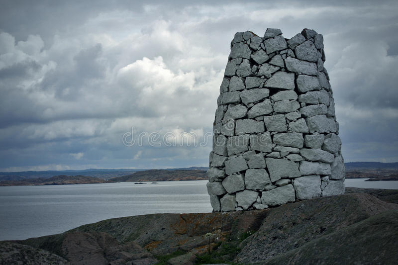 Download Stone tower stock photo. Image of coast, clouds, heaven - 22557592