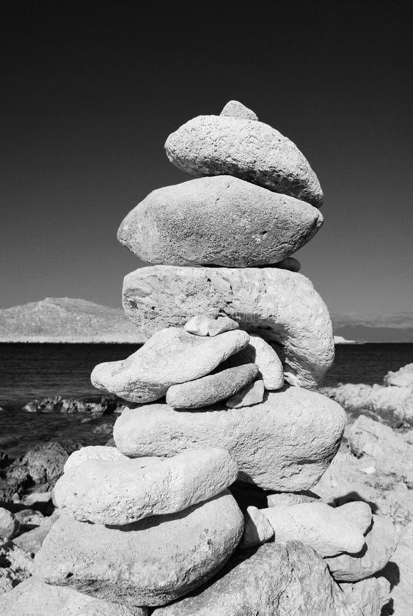 Stone tower, Halki stock image