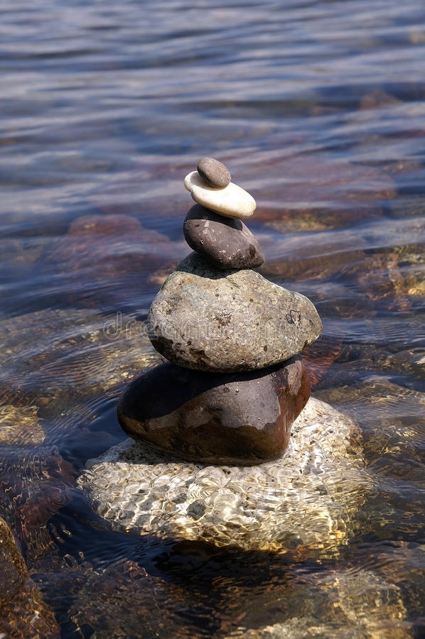 Stone Tower On Water Stock Image