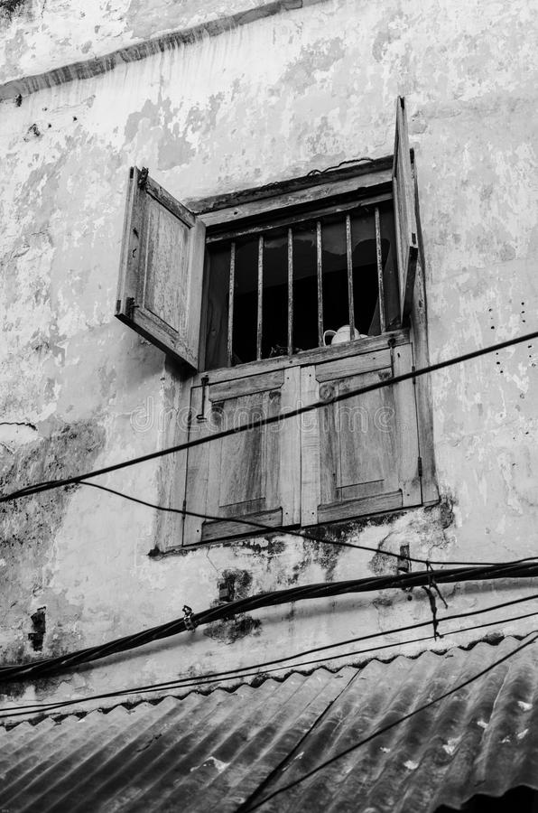 Window in Stone Town royalty free stock images