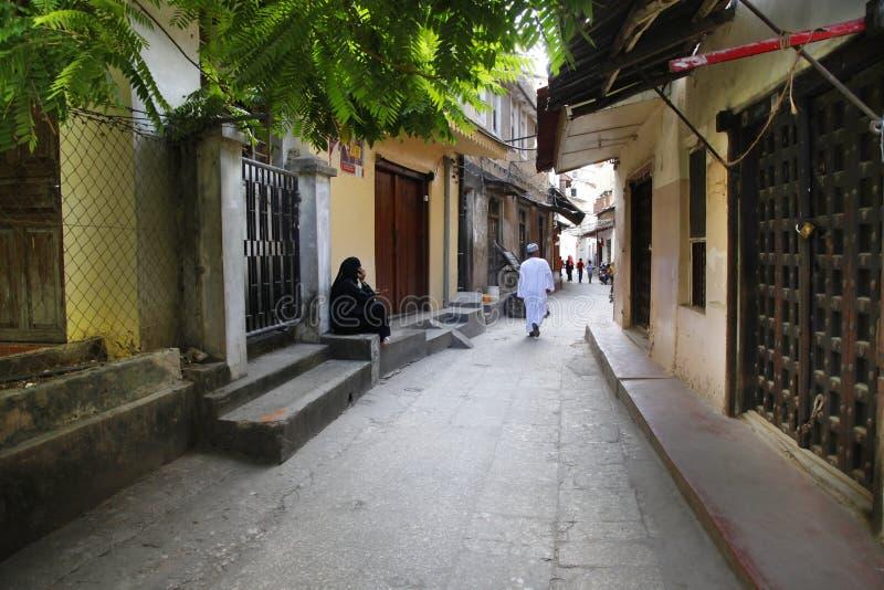 People in Stone Town. Zanzibar royalty free stock photography