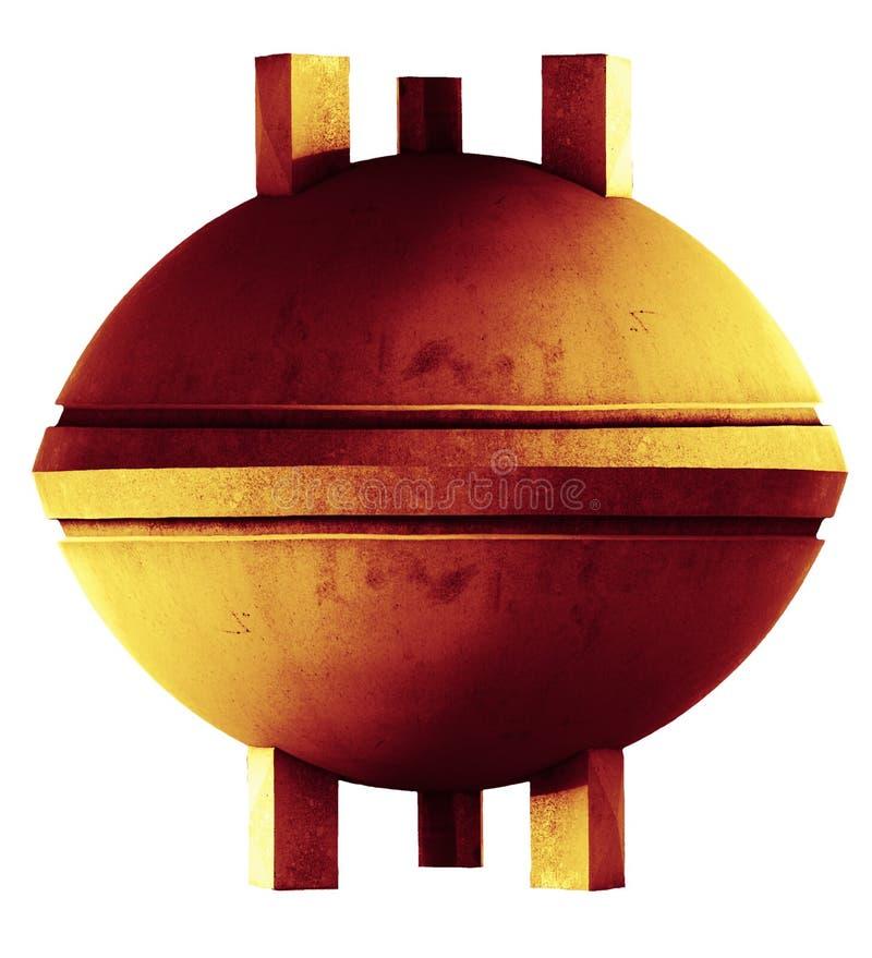 Stone UFO. Orange stone UFO on tripod stock images