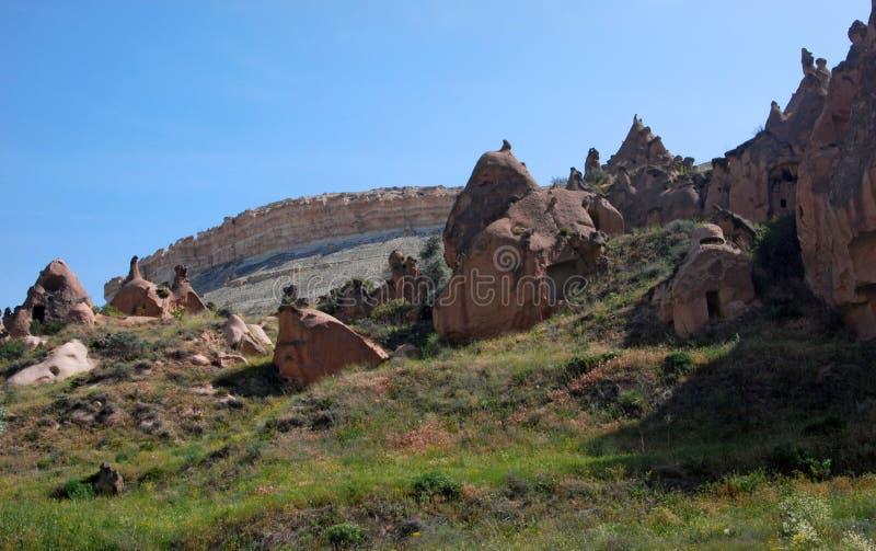 Stone valleys of Cappadocia. In Turkey stock image