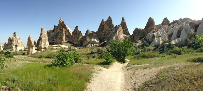 Stone valleys of Cappadocia. In Turkey royalty free stock photos