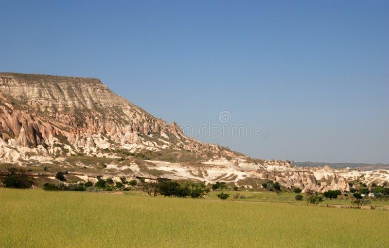 Stone valleys of Cappadocia. In Turkey stock images