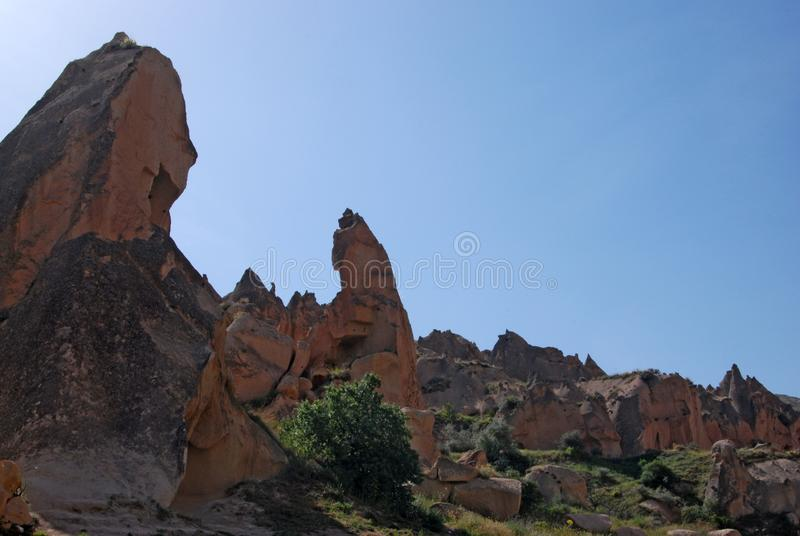 Stone valleys of Cappadocia. In Turkey royalty free stock image
