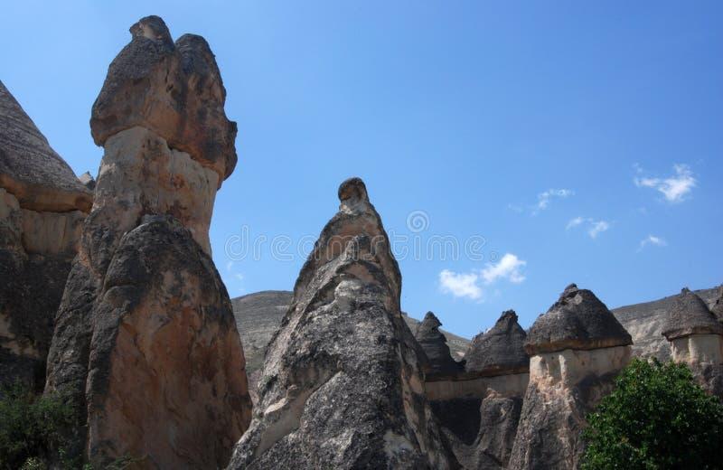 Stone valleys of Cappadocia. In Turkey stock photography