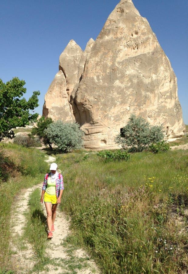 Stone valleys of Cappadocia. In Turkey stock photos