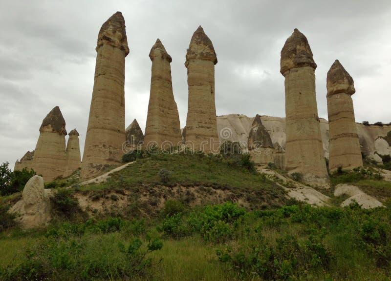 Stone valleys of Cappadocia. In Turkey royalty free stock photography