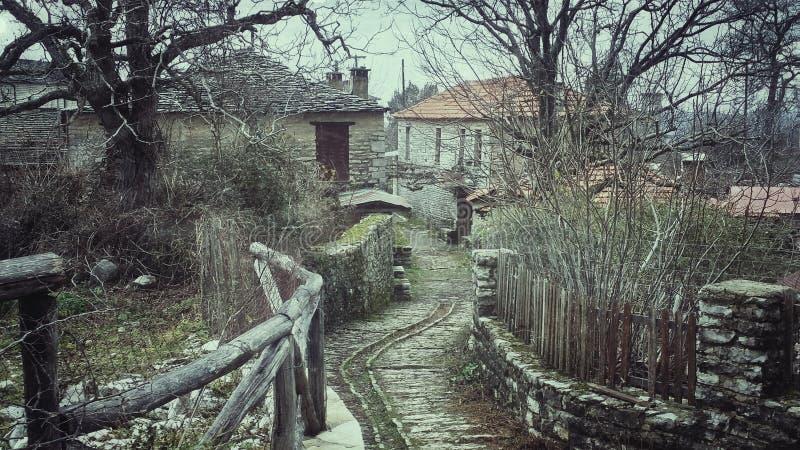 Stone village In Ioannina Greece Vikos royalty free stock images