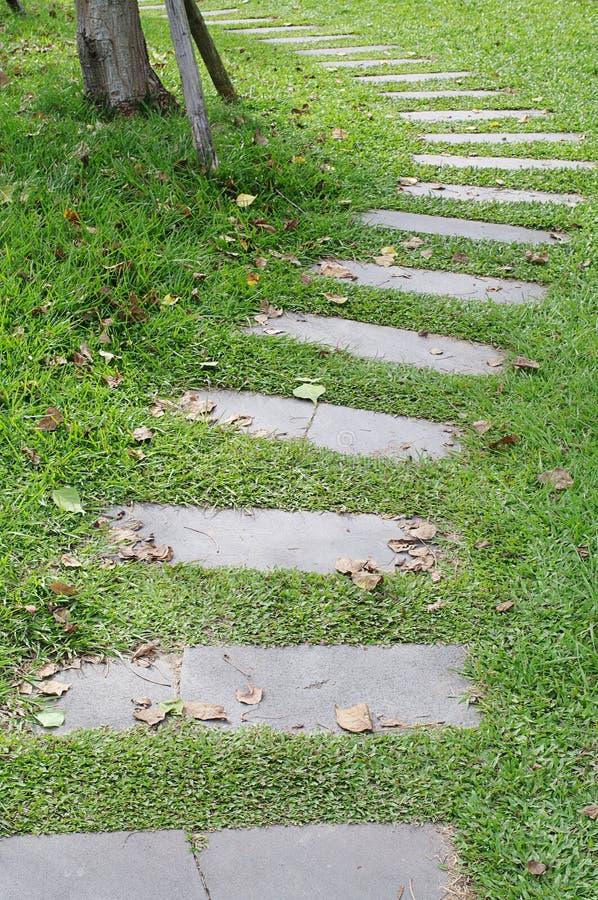 Stone walkway stock photo