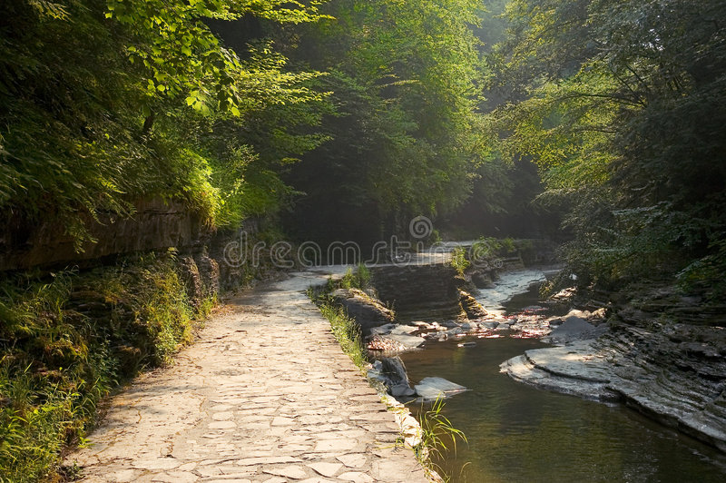 Download Stone Walkway 3 stock photo. Image of beyond, mystery, hiking - 166154