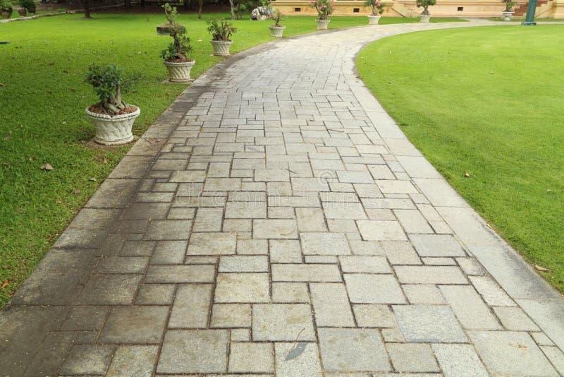 Stone walkway stock photo image of background home for Banquitas de madera para jardin