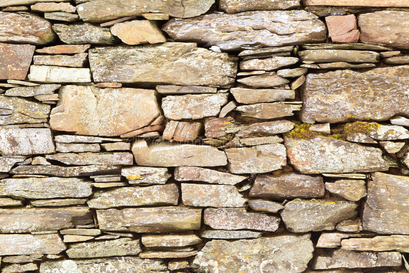 Stone Wall. Horizontal view of rustic stone wall royalty free stock images